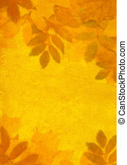 Autumn background with the painting bright leaves