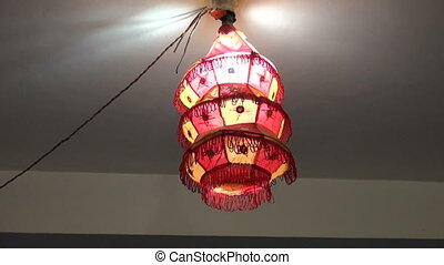 decorative cloth lamp in hotel