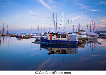 Toronto Yacht Club - Scene of Toronto Yacht Club during...
