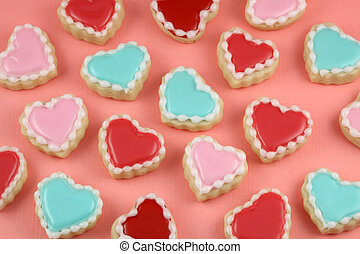 Heart Cookies - Valentine's day heart and love cookies.