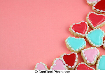 Love Cookies - Valentines day heart and love cookies