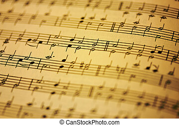 Sheet Music - A close up of a page of sheet music with a...