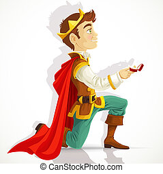 Prince Charming asking the marriage - Prince Charming was on...