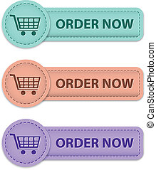 Order now buttons - Order now commercial buttons made of...