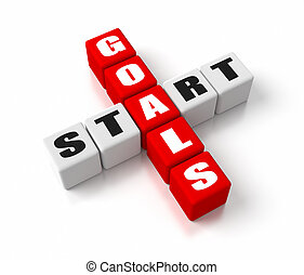 Start Defining Goals Red - St
