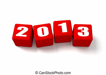 New Year 2013 Red Cubes - New Year 2013 Red cubes. Part of a...