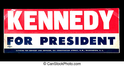 Kennedy election campaign sticker - Vintage Kennedy election...