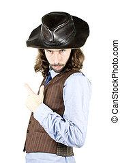 men - a men with the cowboy hat