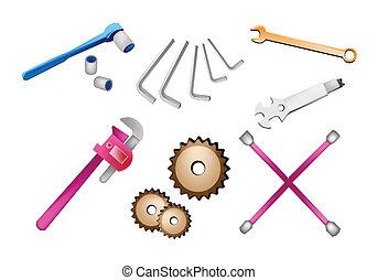A Set of Auto Repair Tools Kits
