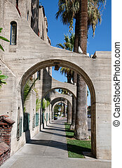 buttress perspective - Concrete buttress - perspective...
