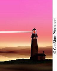 lighthouse near Atlantic seaboard - romantic lighthouse near...
