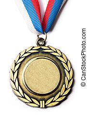 metal, medalla, tricolor, cinta