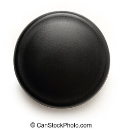 Black button on the white background