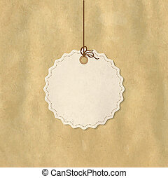 Paper Price Tag, Isolated On White Background, Vector...