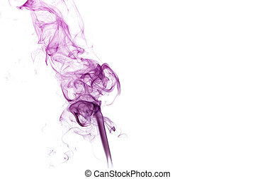 Abstract Purple Smoke - Abstract purple smoke isolated on a...