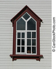 husavik church window - window of church of husavik, north...