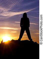 Man sky sunset