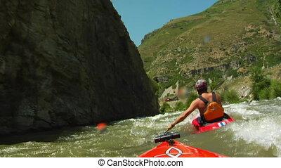 POV white water kayaking