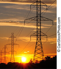 power transmission Sunset