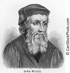 John Wycliffe old drawing - John Wycliffe - Picture from...