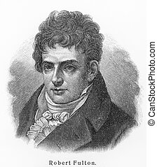 Robert Fulton old drawing - Robert Fulton - Picture from...