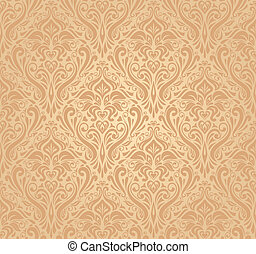 ocher vintage wallpaper