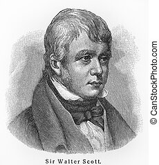Sir Walter Scott old drawing - Sir Walter Scott - Picture...