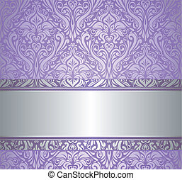 violet and silver luxury vintage wallpaper