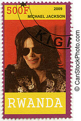 RWANDA - 2009: shows Michael Joseph Jackson (1958-2009) -...