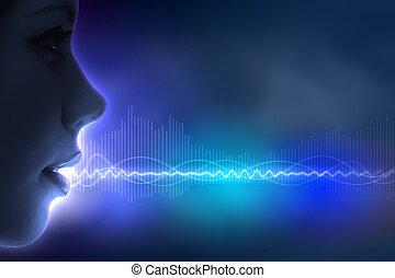 Sound wave illustration - Equalizer sound wave background...