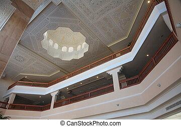 tunisien, moderne, arabe, architecture