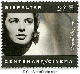 GIBRALTAR - 1995: shows Ingrid Bergman (1915-1982), actress...