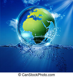 Save the world Abstract environmental backgrounds for your...
