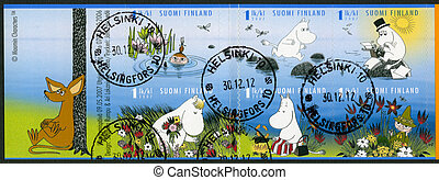 FINLAND - 2007: shows Moomin characters - FINLAND - CIRCA...