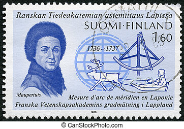 FINLAND - CIRCA 1986: A stamp printed in Finland shows...