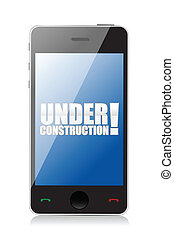 Under construction Web design SEO concept illustration