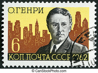 USSR - CIRCA 1962: A stamp printed in USSR shows O Henry and...