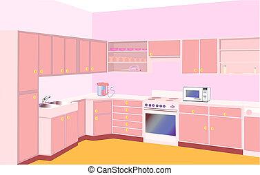 furniture on kitchen by set modern