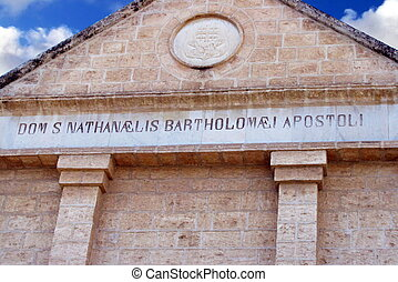 Church Bartholomew, Cana, Israel - Church of the Apostle...