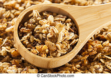 Organic Granola Cereal with oats, flax, almond, and...