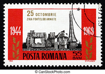 Postage stamp Romania 1960 Armed Forces Memorial - ROMANIA -...