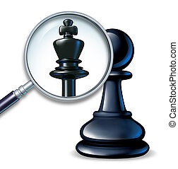 Future Leader - Future leader business concept with a chess...