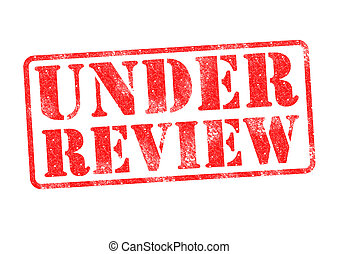 UNDER REVIEW red rubber stamp over a white background