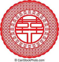 Double happiness - A double happiness symbol for Chinese...