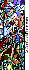 David, stained glass