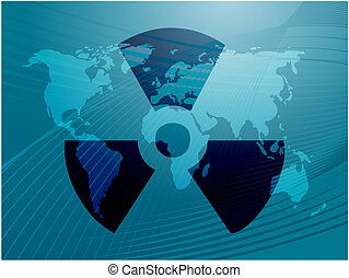 Radiation symbol - Illustration of radiation hazard warning...