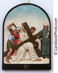 3rd, estações, crucifixos