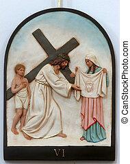 6º, estações, crucifixos