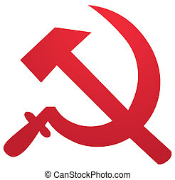 Soviet symbol - Soviet USSR hammer and sickle political...