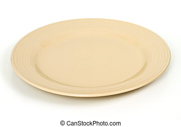 Dinner plate on the white background